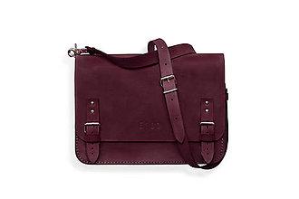 Veľké tašky - Eggo aktovka Benedict Medium fialová - 7244669_