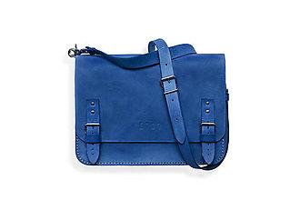 Veľké tašky - Eggo aktovka Benedict Medium modrá - 7244783_