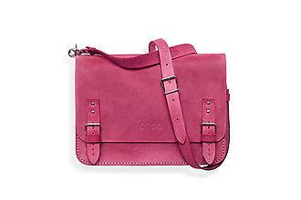 Veľké tašky - Eggo aktovka Benedict Medium ružová - 7244860_