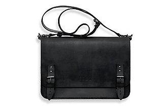 Veľké tašky - Eggo aktovka Benedict Large čierna - 7245135_