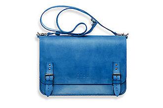 Veľké tašky - Eggo aktovka Benedict Large modrá - 7245167_