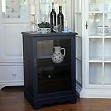 Nábytok - Tmavomodrá vitrínka možno aj na vínko - predaná - 7244531_