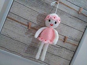 Dekorácie - anjelik - dekorácia 3 / bielo-rúžový/ - 7245568_