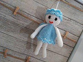 Dekorácie - anjelik - dekorácia 4 / bielo-modrý/ - 7245678_