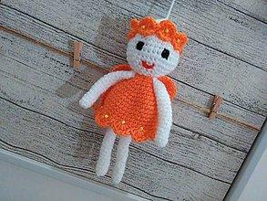 Dekorácie - anjelik - dekorácia 5 / bielo-oranž./ - 7245707_