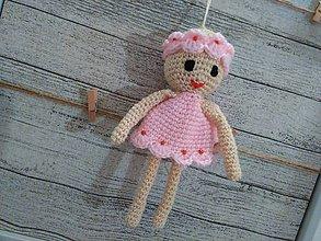 Dekorácie - anjelik - dekorácia 7 / capucino/pink / - 7245771_