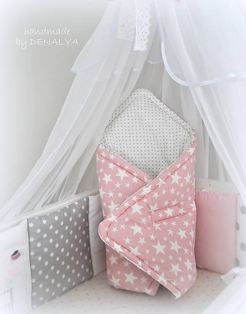Textil - Zavinovačka 70x70cm z Basic ružová-Limitovaná látka - 7250481_