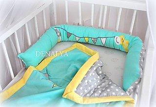 Textil - Dlhý a úzky valec pre postieľky 140/70cm - 16x140cm - 7250394_