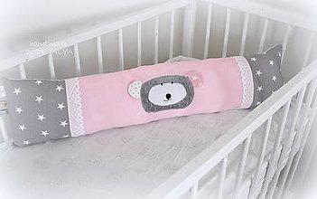 Textil - Podlhovastý vankúš Basic ružová 23x60cm - 7250405_