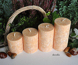Svietidlá a sviečky - Adventné sviečky - medové - 7249471_
