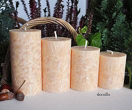 Svietidlá a sviečky - Adventné sviečky - medové svetlé - 7249492_