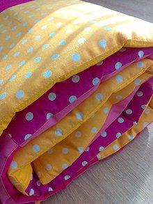 """Úžitkový textil - Patchwork prehoz """"ružovo-žltá"""" krása.. :) - 7247757_"""