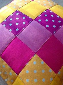 """Úžitkový textil - Vankúšik """"žlto-ružový"""" :) - 7247947_"""