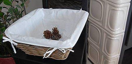 Úžitkový textil - Textilné vnútro do košíkov - 7250445_