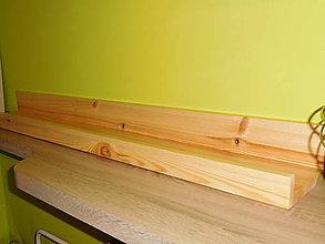 Nábytok - polička z borovicového masívu - 7246700_