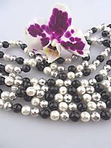 perly z mušlí facetované 10mm - 3ks
