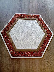 Úžitkový textil - Vianočný patchworkový obrúsok - 7250416_