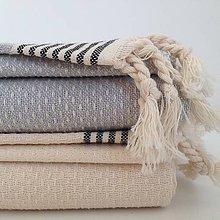 Úžitkový textil - Set 3 veľkosti « Oko jarabice » čierne pruhy - 7250679_