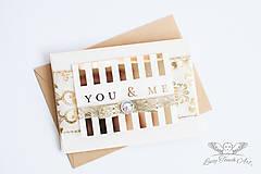 """- Pohľadnica """"You & Me """"/ na zákazku :) - 7247783_"""