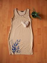 Šaty - Šaty s rastlinkami: Modrá lúka - 7145688_