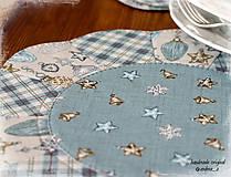 """Úžitkový textil - prestierania """"Balmoral"""" kruhové modré - 7247987_"""