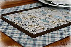 """Úžitkový textil - prestierania """"Balmoral"""" modré obdĺžnikové - 7248094_"""