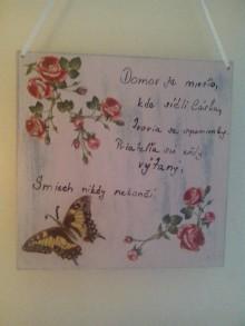 Tabuľky - ruže s motýľom I. - 7253417_