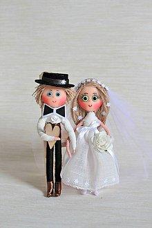 Bábiky - Nevestička Zuzka a ženích Miško - 7251412_
