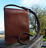 Tašky - Kožená messenger brašna - 7250889_