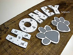 Tabuľky - písmenká pre psíky - 7250982_
