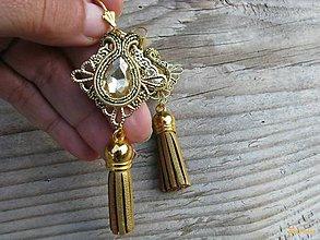 b6c2128f5 Náušnice - Hippie collection - gold tassel...soutache - 7252319_