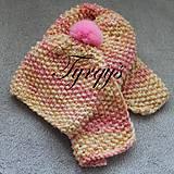"""Čiapky - Detská čiapka a šál """"pastelka II"""" - 7253635_"""