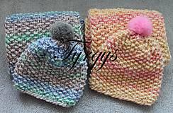 Čiapky - Detská čiapka a šál