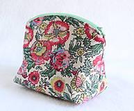 Taštičky - Taštička recyklovaná kvety - 7251359_