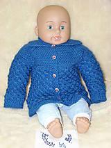 Detské oblečenie - Ručne pletený svetrík - 7254049_