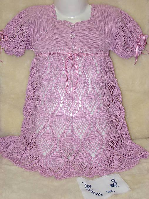 d0773e696 Háčkované šaty pre slečny / mana61 - SAShE.sk - Handmade Detské ...
