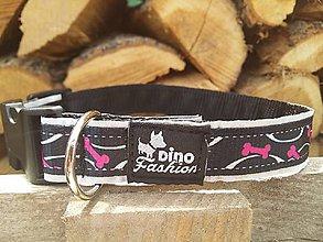 Pre zvieratká - Reflexný obojok Dinofashion Bones - 7252089_