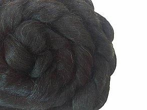 Textil - Alpaka čierna 90g (90g) - 7252315_