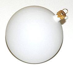 Polotovary - Plastová guľa 8 cm, ihneď - 7253573_