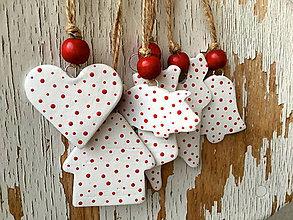 Dekorácie - Ľadové Vianoce - sada ozdôbok 6ks - 7253557_