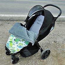 Textil - Minky deka s úchytom o kočík - 7254971_