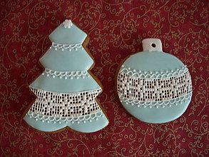 Dekorácie - medovník-vianoce v modrom l - 7257069_