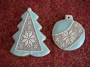 Dekorácie - medovník-vianoce v modrom ll - 7257073_