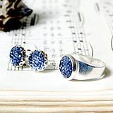 Sady šperkov - Sparkling Crystals - Cobalt Blue Se / Trblietavý set v kobaltovo modrej farbe - 7257171_