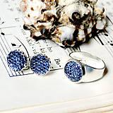 Sady šperkov - Sparkling Crystals - Cobalt Blue Se / Trblietavý set v kobaltovo modrej farbe - 7257172_