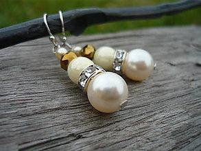 Náušnice - Náušnice elegant Ivory love - 7258065_