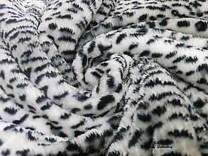 Textil - Flis - čierno biely - cena za 10 cm - 7257652_