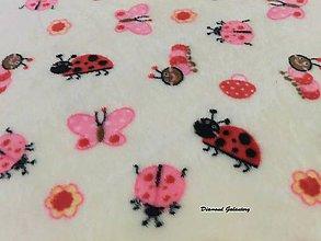 Textil - Flis - zvieratká - cena za 10 cm - 7257658_