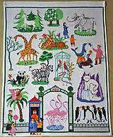 Textil - Dekorácie - Vyšívaná tapisérie - 7255970_