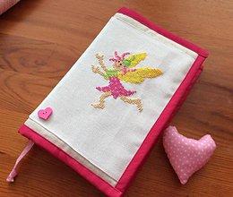 Papiernictvo - obal na knihu , zápisník - víly 3 - 7255258_